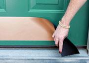 Magnetic Front Door Kick Plates Metallic Finishes